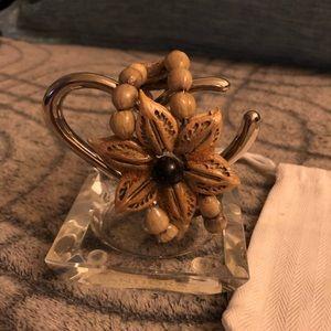 Natural Seed Flower Created Bracelet